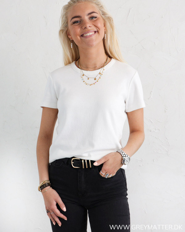 YAS Yasshani Star White O-Neck T-Shirt