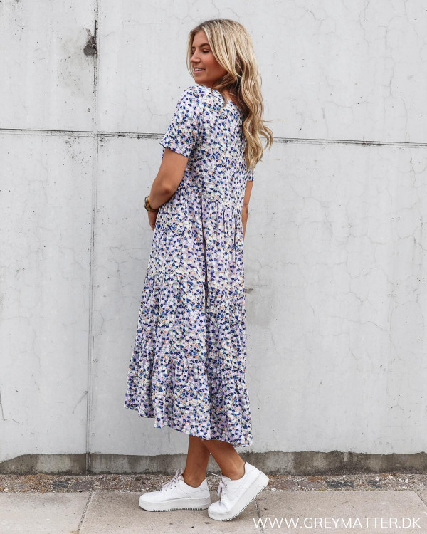 Pieces Midi kjole med blomster print