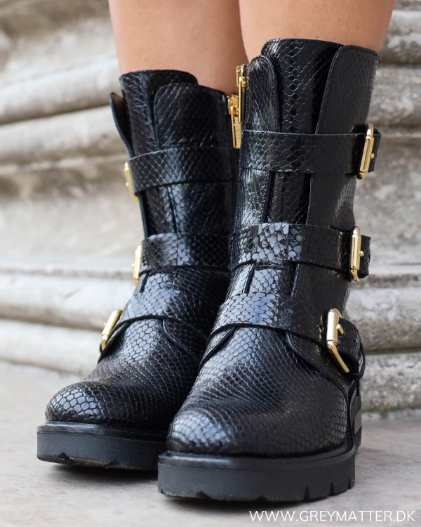 Apair Snake Diamant Lux Nero Støvler