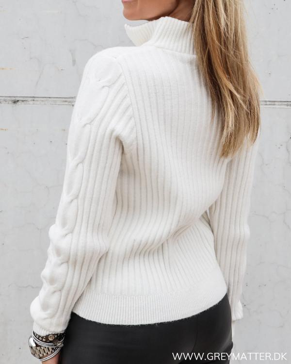 Vila strik bluse i whisper white