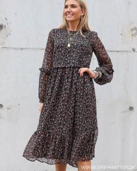 Yasmira Black Midi Dress