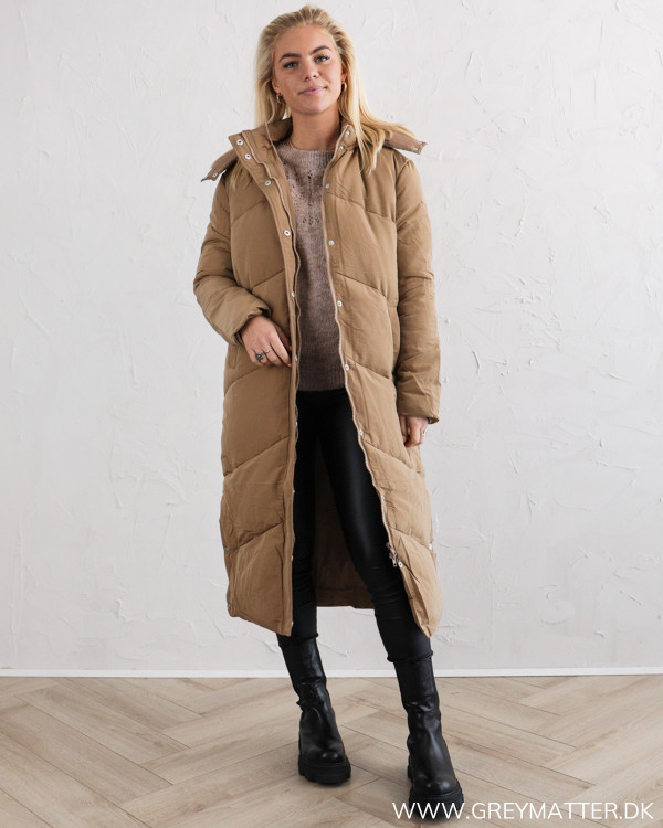 Neo Noir Taran Camel Puffer Coat