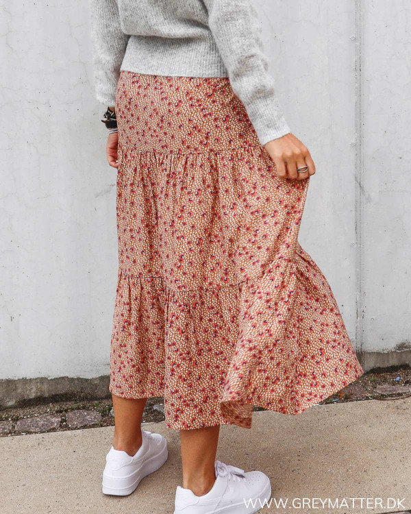 Nederdel fra Vila med print og flæser