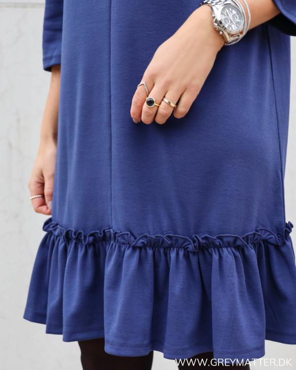 Elegant Vila kjole i smuk blå farve