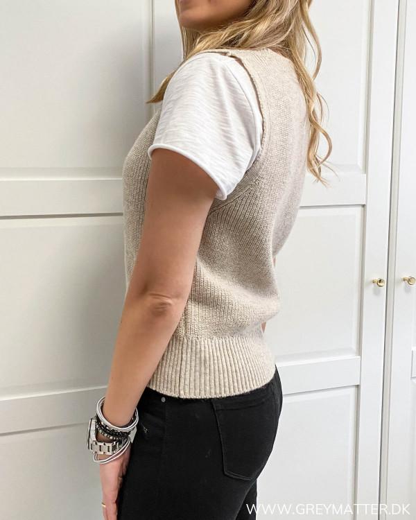 Trendy strik vest fra Only