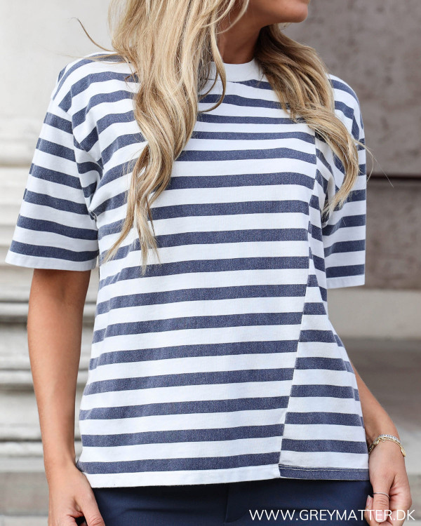 Washed Blue Stripe Tee