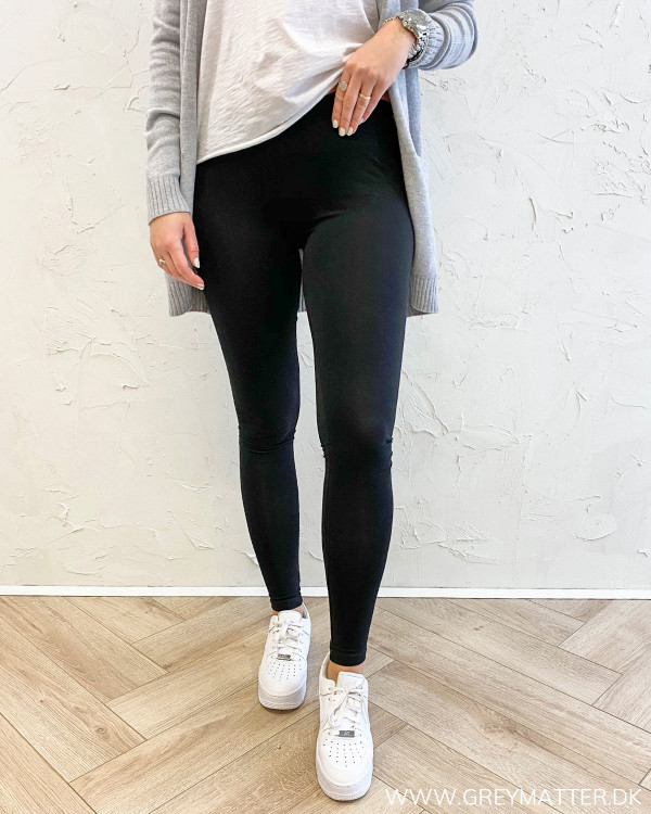 Pieces sorte leggings bomuld