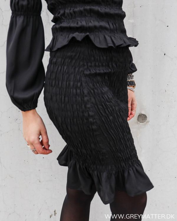 Sort smock nederdel fra Pieces