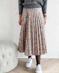 Vinitban Leo Print Skirt