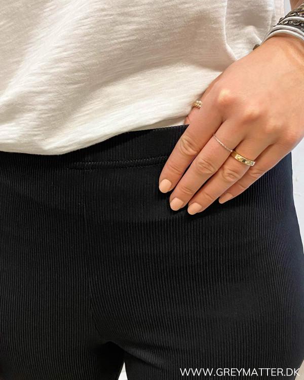 Pccharlotte Black Flared Zip Pants