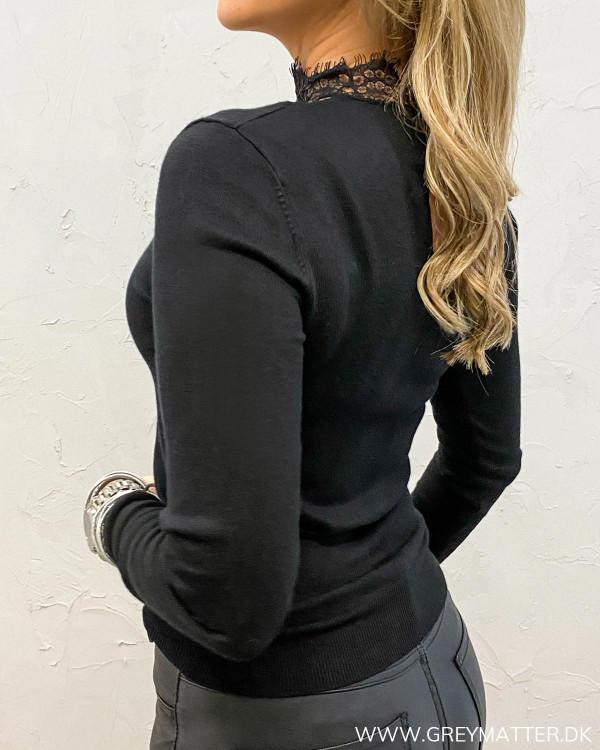 Vifri Lace Black Knit Blouse