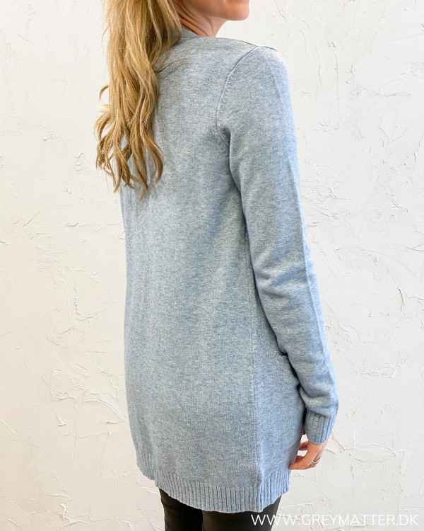 Viril Open Ashley Blue Knit Cardigan