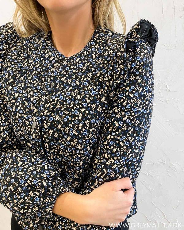 Vianma Black Flowers Quilted Jacket