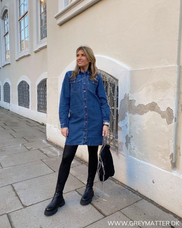 Pcperry Medium Blue Denim kjole