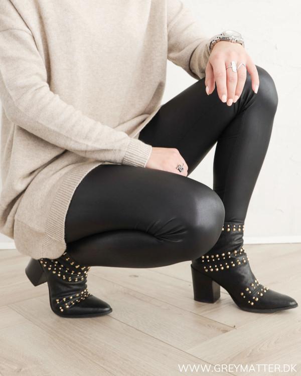 Pieces Pcnew Shiny Black Leggings