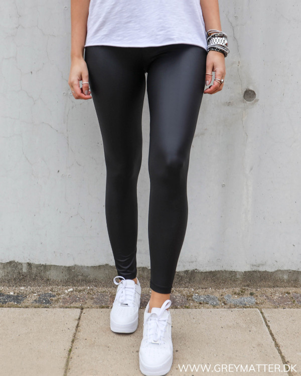 Pieces Pcnew Shiny Black Leggings
