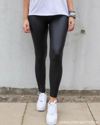 Pcnew Shiny Black Leggings