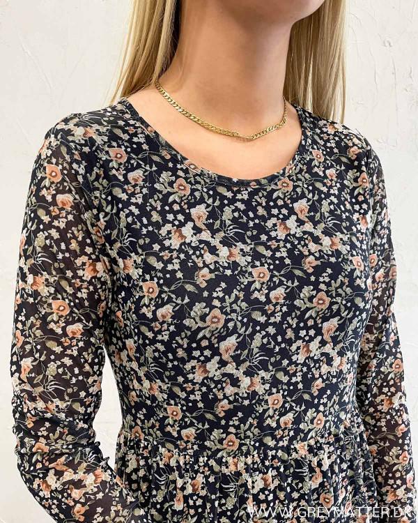 Vidavis Printed Navy Blazer Flowers Dress