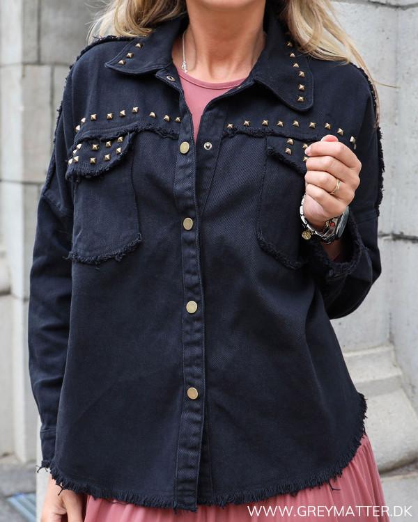 Black Studs Denim Jacket