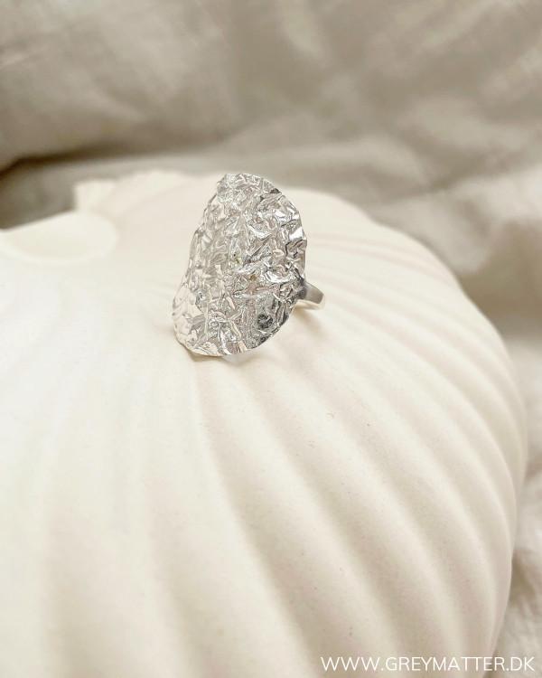 Silver Metalic Folie Ring