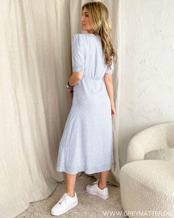 Onldaisy Blue Heron Flowers Print Dress