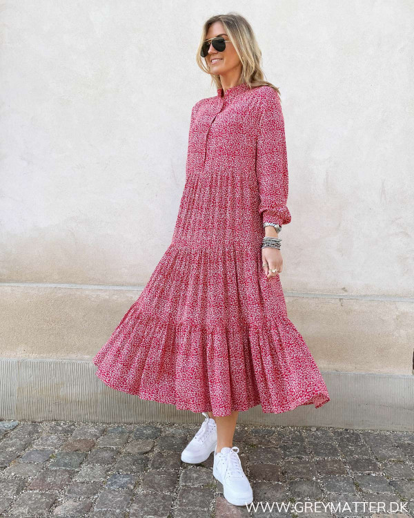 Midi dress i smuk rødt print