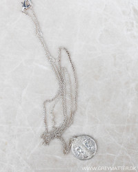 Detailed Silver Medallion Necklace