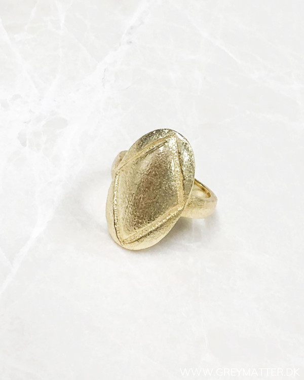 Simple Golden Oval Ring