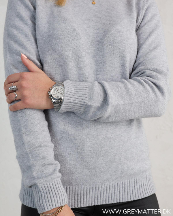 Viril Light Grey Melange O-Neck Knit