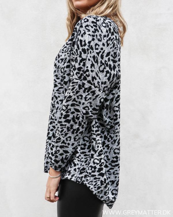 Leopard sweatshirt bluse set fra siden