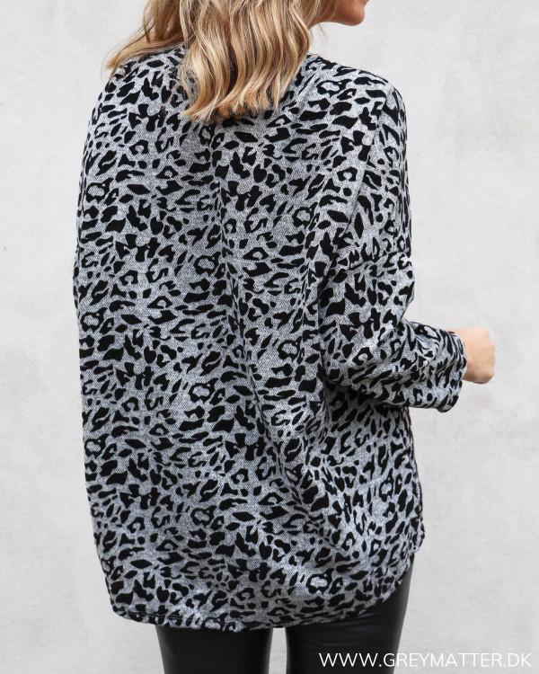 Leopard sweatshirt bluse set bagfra