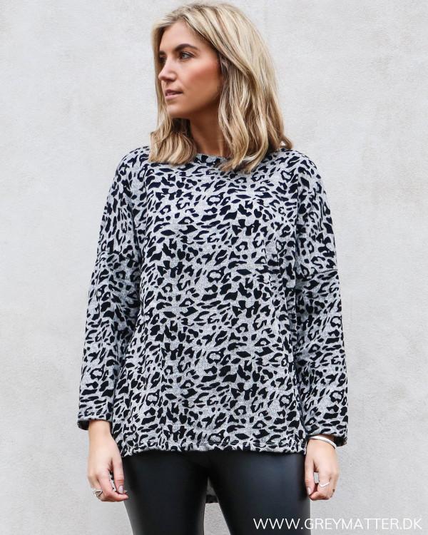 Leopard sweatshirt bluse set forfra