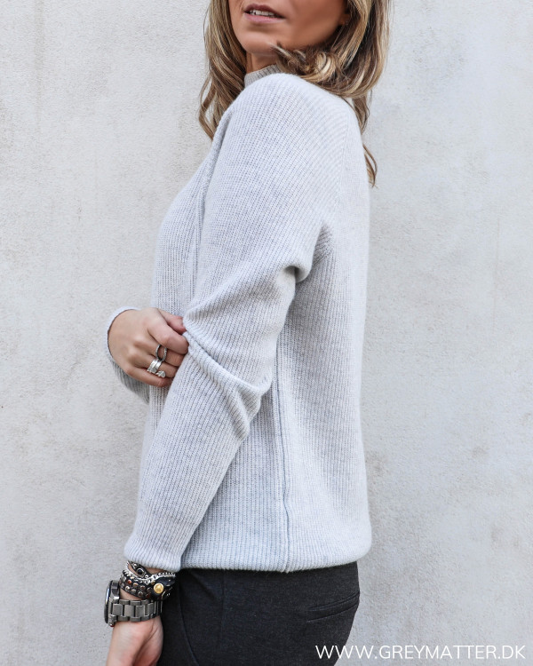 Light Grey High Neck Knit