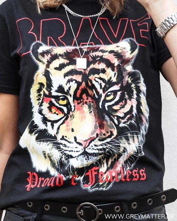Black Printed Tiger Tee