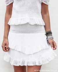 Line Solid White Skirt