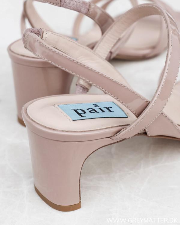 Apair Vernice Beige String Heels