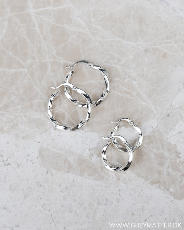 Small Silver Twisted Hoops