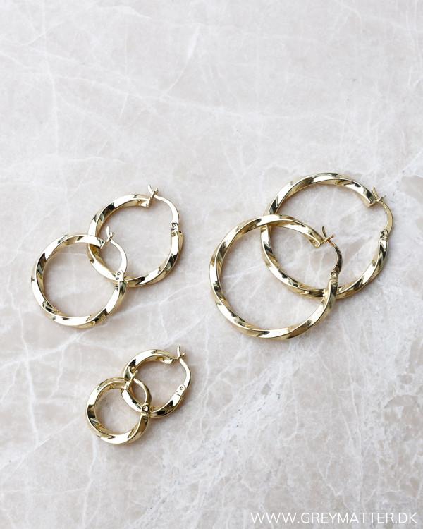 Medium Golden Twisted Hoops