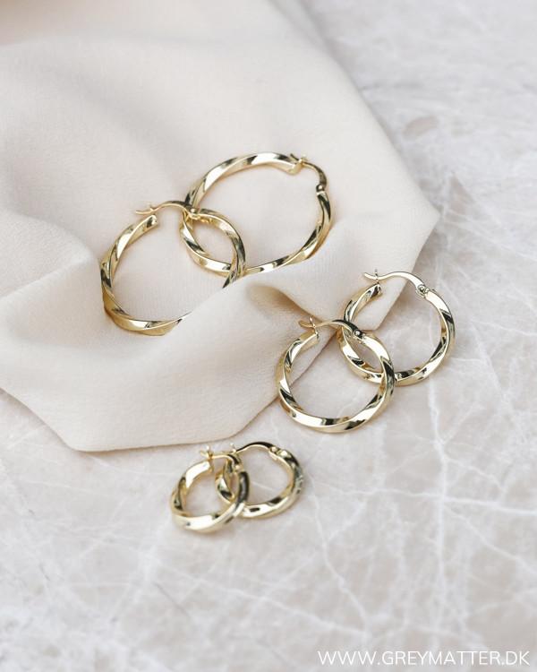Big Golden Twisted Hoops