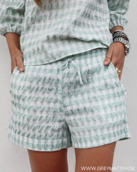 Abbigail Summer Check Mint Shorts