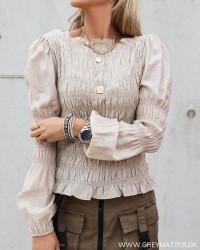 Polka Smock Camel Shirt