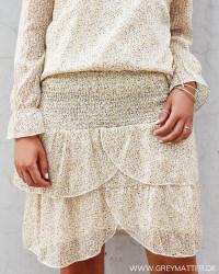 Eva Mini Flower Light Yellow Skirt