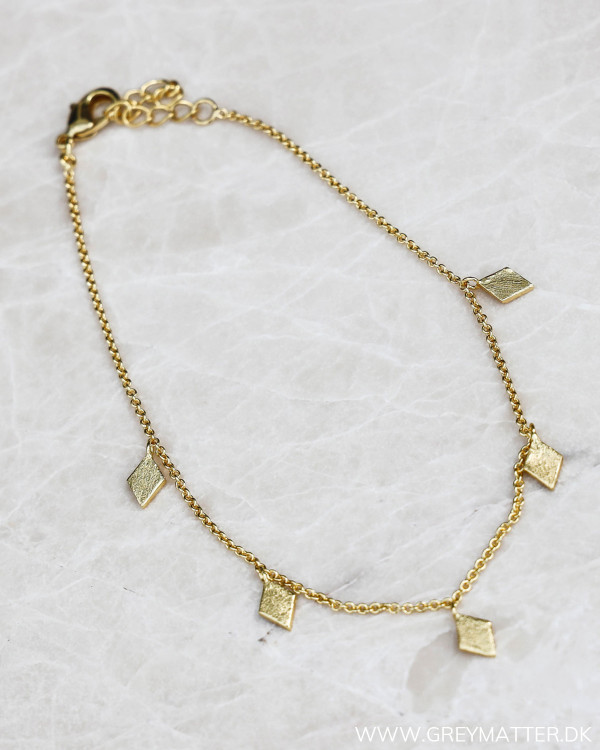 Trapez Golden Ankle Chain