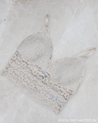 Pcarka Lace Whitecap Gray Bra