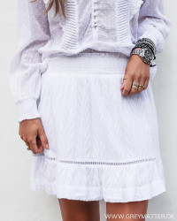 Teffie Leaf Dobby White Skirt