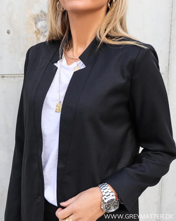 Sort blazer jakke til damer