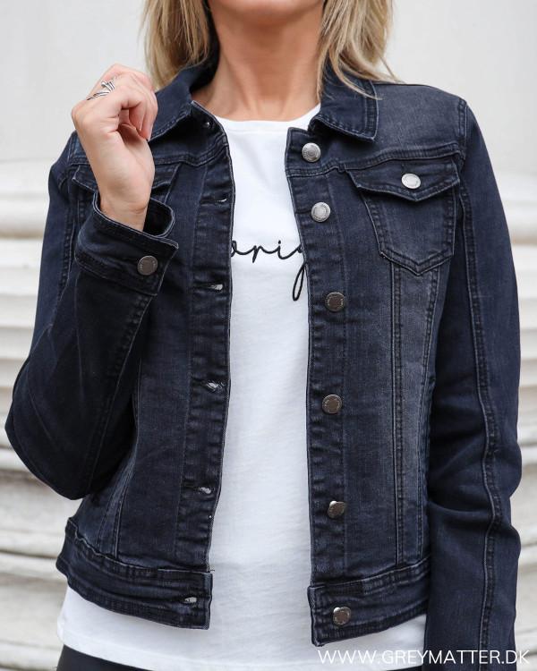 Lulu Short Washed Black Jacket