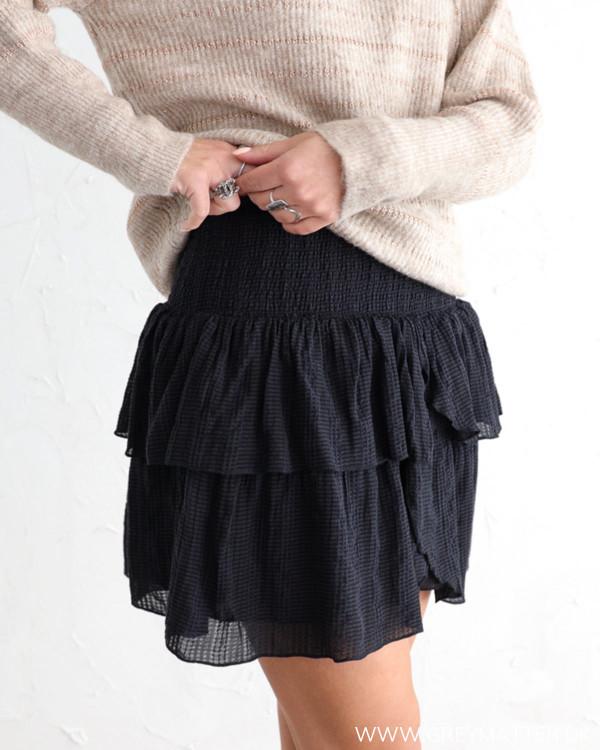 Neo Noir Carin Dobby Check Skirt