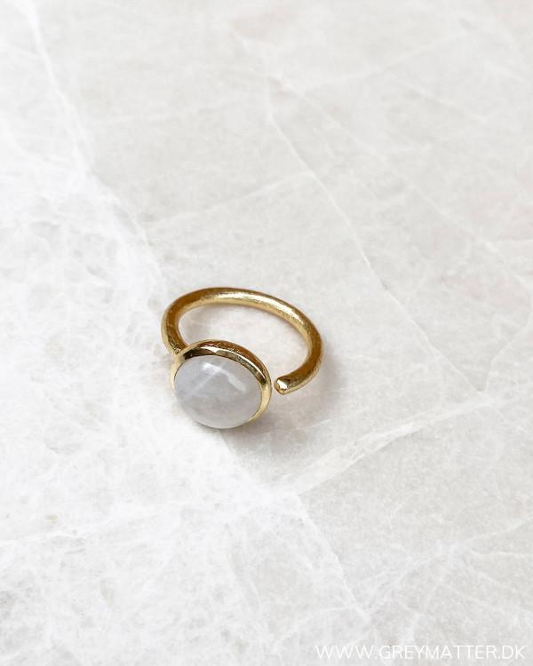 Gaveide til kvinder justerbare moonstone ring