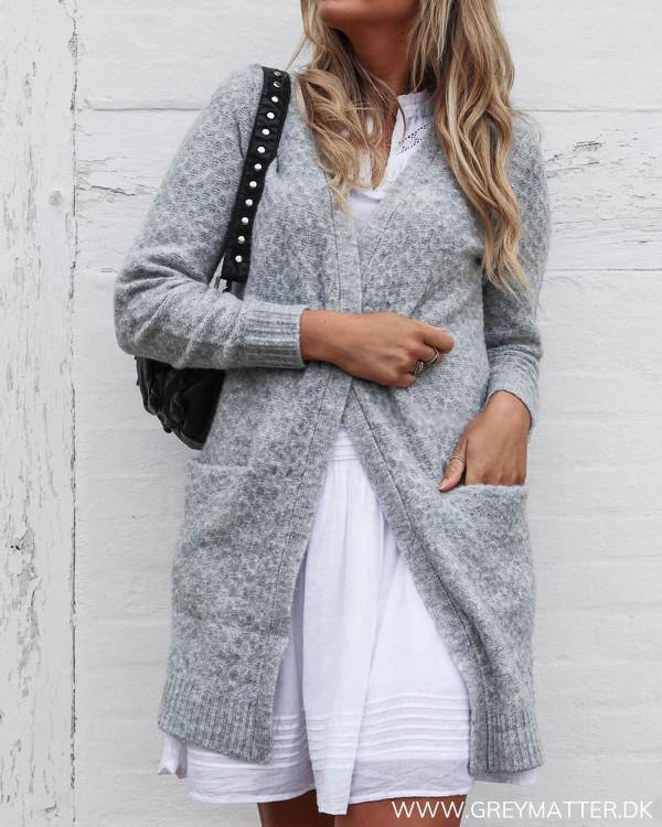 Viinfi Light Grey Knit Cardigan